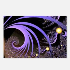 """Light 4"" Fractal Art Postcards (Package of 8)"