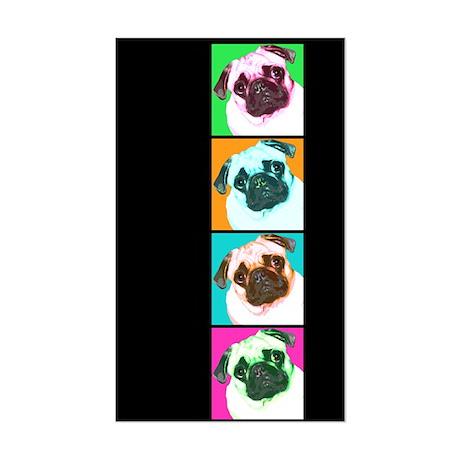 Pop Art Pug Rectangle Sticker