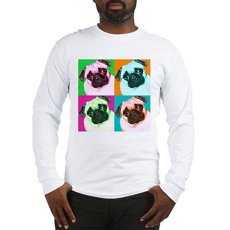Pop Art Pug Long Sleeve T-Shirt