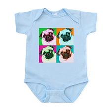 Pop Art Pug Infant Creeper