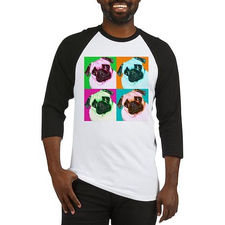 Pop Art Pug Baseball Jersey