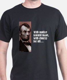 """Lincoln """"With Malice"""" T-Shirt"""