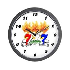 Lucky Sevens Wall Clock