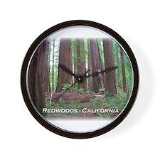 Cute California redwoods Wall Clock