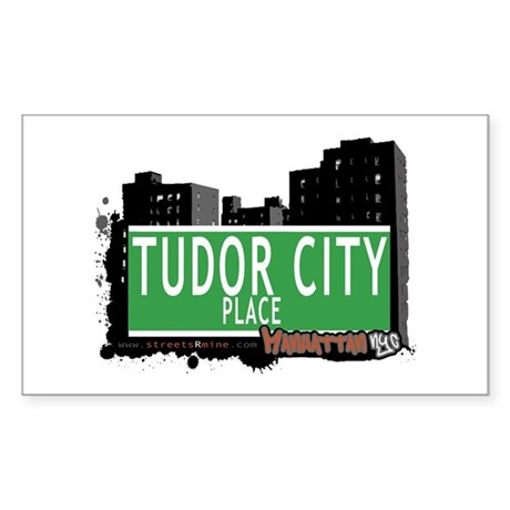TUDOR CITY PLACE, MANHATTAN, NYC Sticker (Rectangl