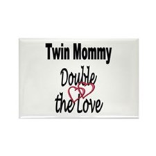 Double the Love Rectangle Magnet