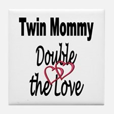 Double the Love Tile Coaster