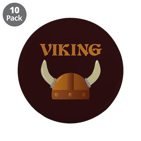 """Viking Helmet 3.5"""" Button (10 pack)"""