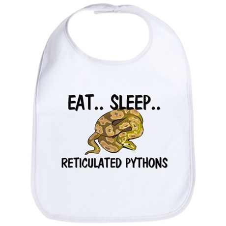 Eat ... Sleep ... RETICULATED PYTHONS Bib