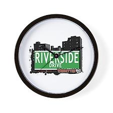 RIVERSIDE DRIVE, MANHATTAN, NYC Wall Clock