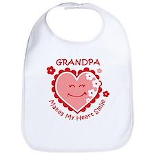 Heart Smile Grandpa Bib