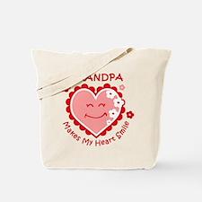 Heart Smile Grandpa Tote Bag