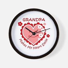 Heart Smile Grandpa Wall Clock