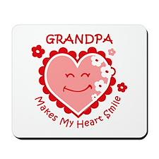Heart Smile Grandpa Mousepad