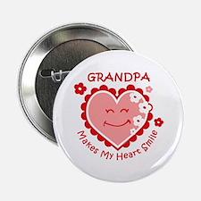 """Heart Smile Grandpa 2.25"""" Button"""