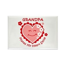 Heart Smile Grandpa Rectangle Magnet