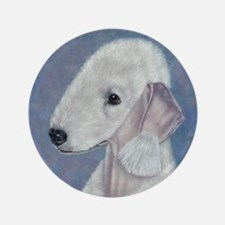 "Bedlington (Blue) 3.5"" Button"