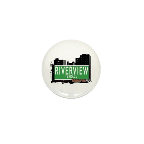 RIVERVIEW TERRACE, MANHATTAN, NYC Mini Button