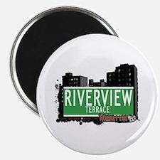 "RIVERVIEW TERRACE, MANHATTAN, NYC 2.25"" Magnet (10"