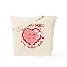 Heart Smile Grandkids Tote Bag