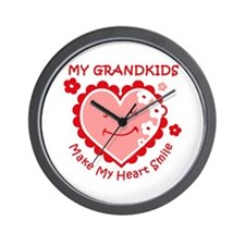 Heart Smile Grandkids Wall Clock