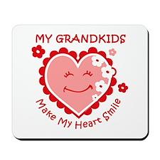 Heart Smile Grandkids Mousepad