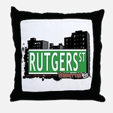 RUTGERS STREET, MANHATTAN, NYC Throw Pillow
