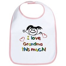 I Love Grandma (girl) Bib