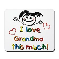 I Love Grandma (girl) Mousepad