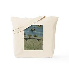 Chandelier in the sky, Tote Bag