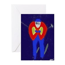Skiing Greeting Cards (Pk of 10)