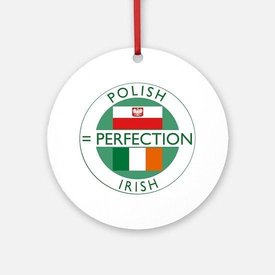 Irish Polish flags Ornament (Round)