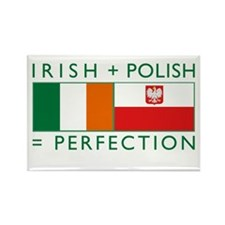 Irish Polish flags Rectangle Magnet