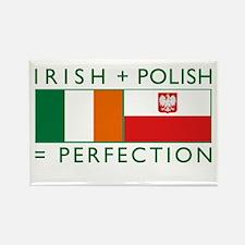 Irish Polish flags Rectangle Magnet
