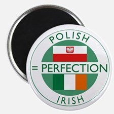 Irish Polish flags Magnet