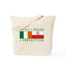 Irish Polish flags Tote Bag