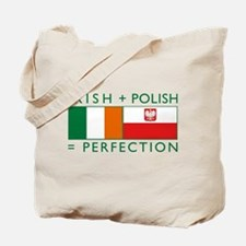 Irish Polish flags Tote Bag