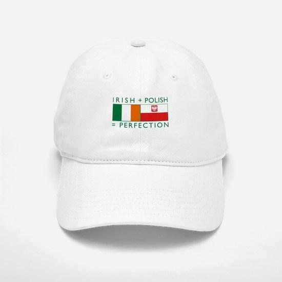 Irish Polish flags Baseball Baseball Cap