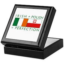 Irish Polish flags Keepsake Box