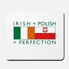 Irish Polish flags Mousepad