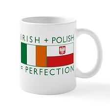 Irish Polish flags Small Mug