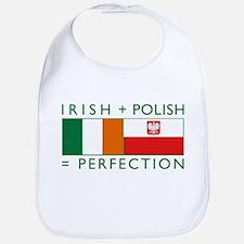 Irish Polish flags Bib