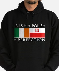 Irish Polish flags Hoodie