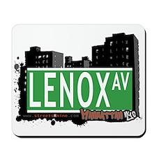 LENOX AVENUE, MANHATTAN, NYC Mousepad