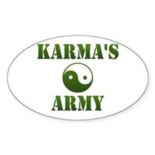 Karma's Army Oval Decal