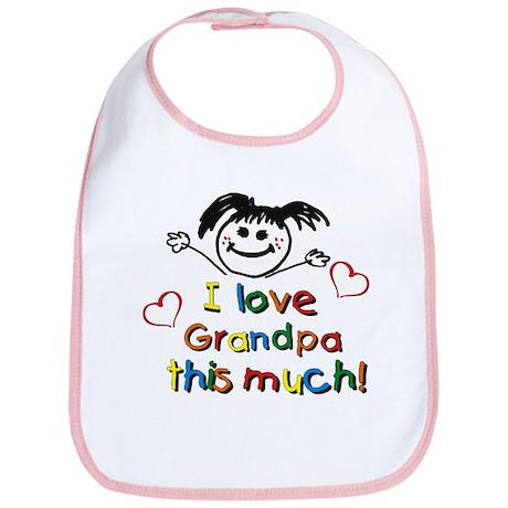I Love Grandpa (girl) Bib