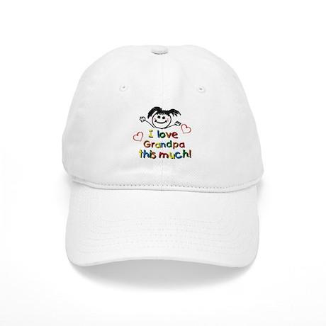 I Love Grandpa (girl) Cap