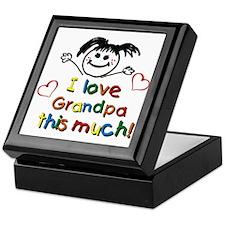 I Love Grandpa (girl) Keepsake Box