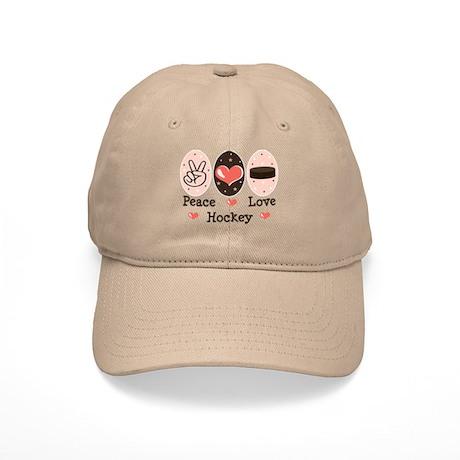 Peace Love Hockey Cap