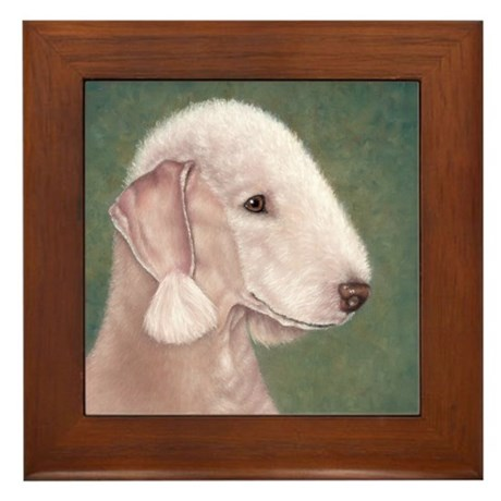 Bedlington (Liver) Framed Tile